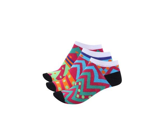 Sada tří dámských vzorovaných ponožek Oddsocks Liner 3