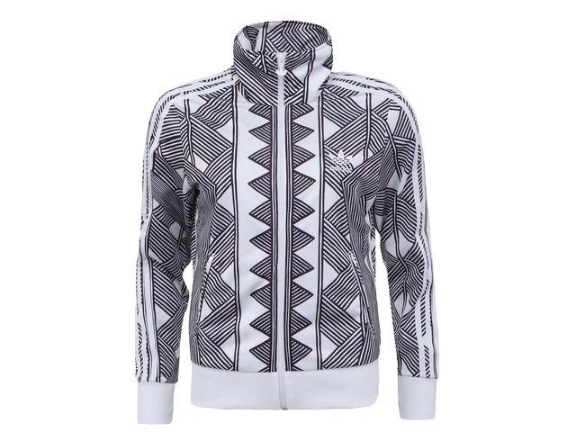 Bílo-černá dámská mikina na zip adidas Originals