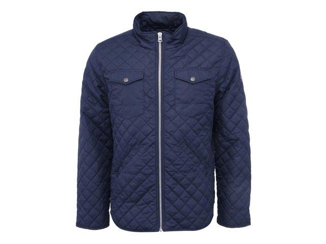 Tmavě modrá lehká prošívaná bunda Shine Original Quilted