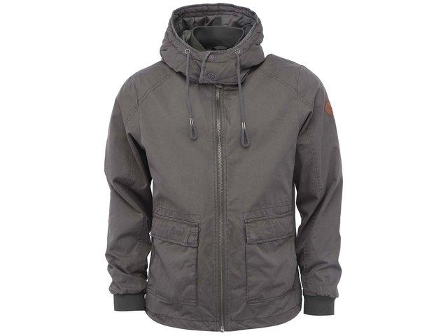 Khaki bunda s odnímatelnou kapucí Shine Original