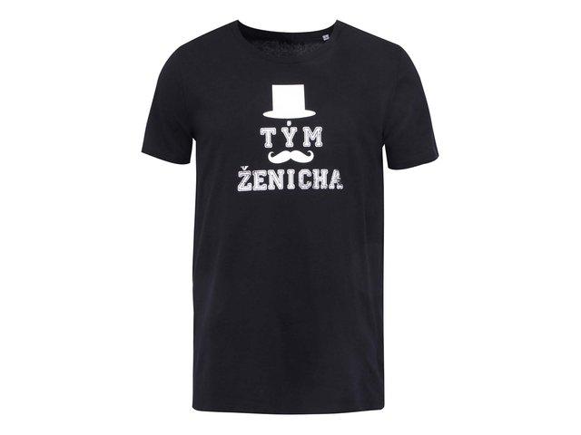 Černé pánské triko ZOOT Originál Tým ženicha