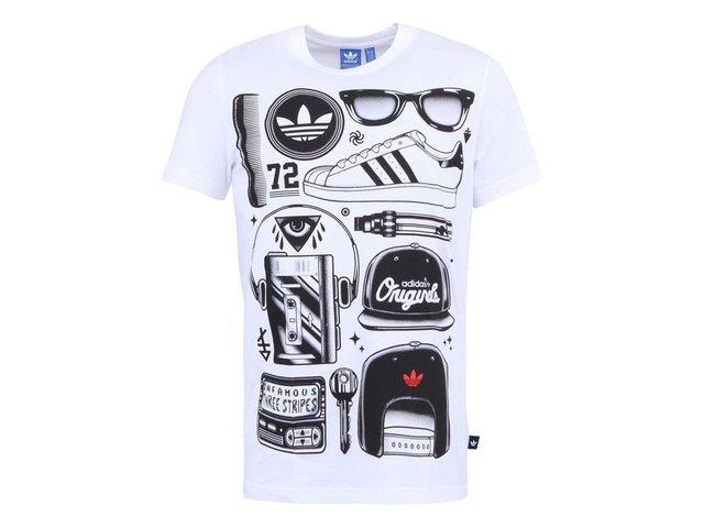 Bílé pánské triko s potiskem adidas Originals Sst Look
