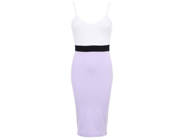 Krémovo-fialové šaty AX Paris