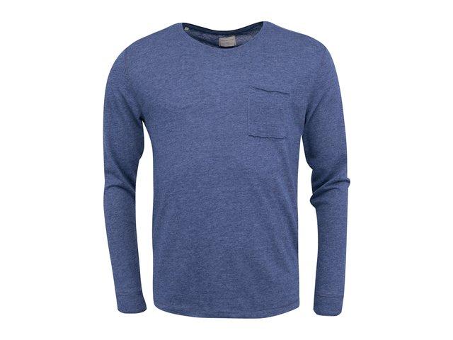 Modré triko s dlouhým rukávem Selected Bang