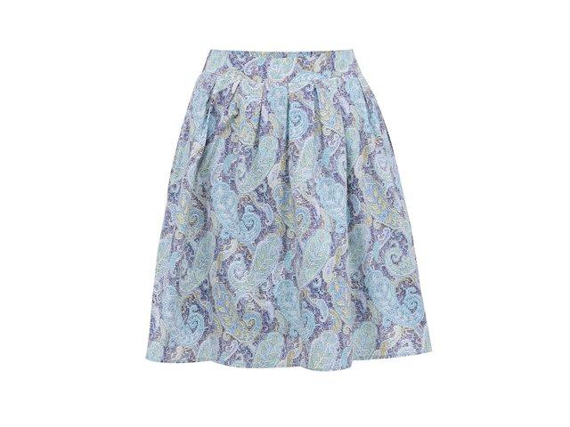Modrá vzorovaná sukně GINGER+SOUL