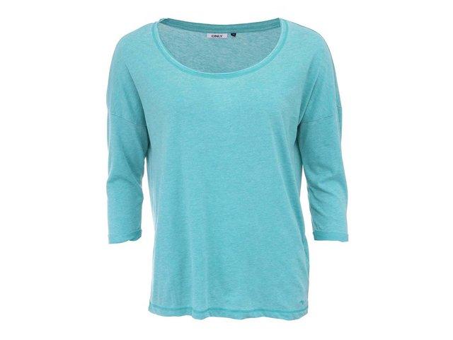 Zelené tričko s 3/4 rukávem ONLY Hella
