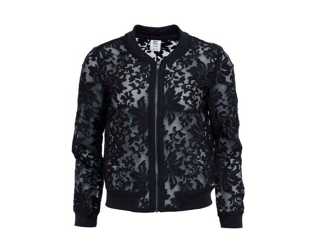 Černý transparentní  bomber s květinovým motivem Vero Moda Lisa