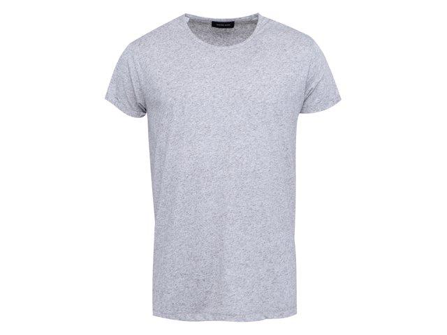 Šedé triko s krátkým rukávem Selected