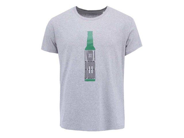 Šedé pánské triko ZOOT Original I Need a Beer
