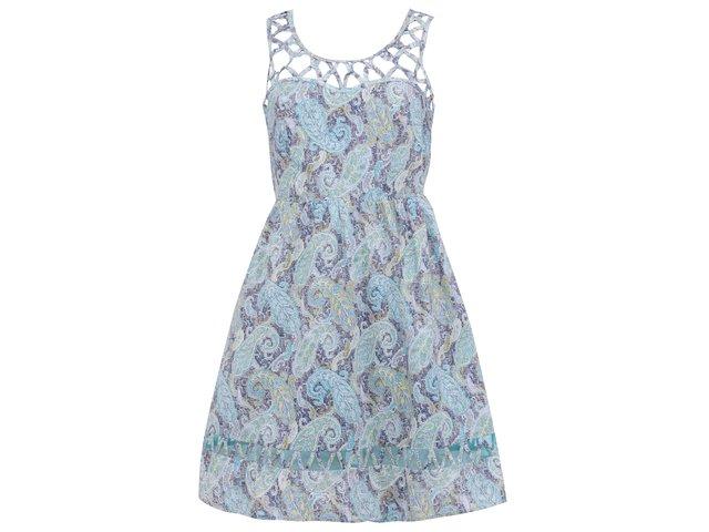 Modré vzorované šaty GINGER+SOUL