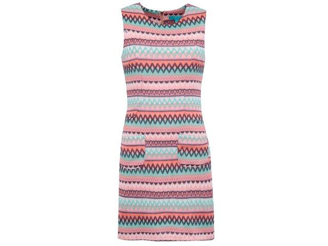 Barevné vzorované šaty Fever London Kobi