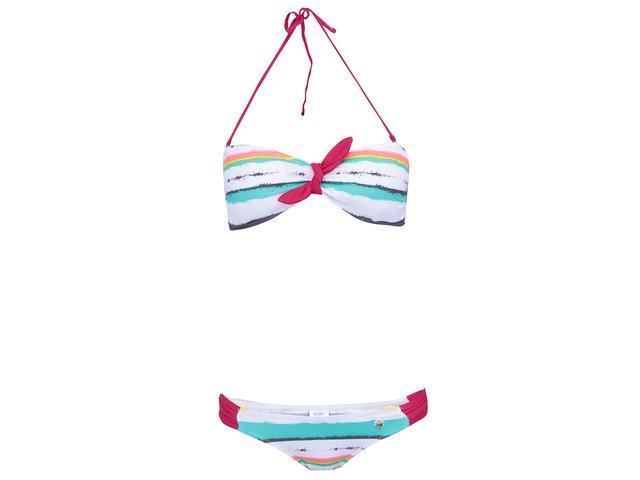 Bílé plavky s barevnými pruhy Little Marcel Balica