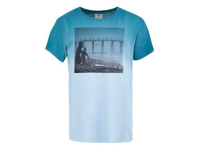 Modré pánské triko s potiskem Vans Solo Sesh