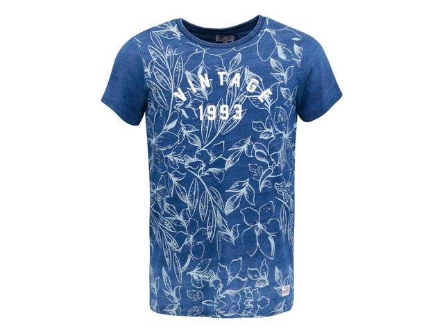 Tmavě modré vzorované triko Blend Vintage
