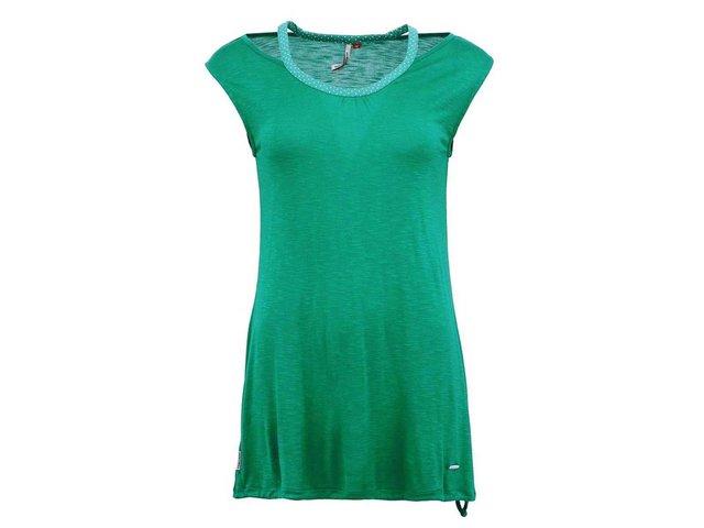 Zelený dlouhý top s dvojitými ramínky Ragwear Edith