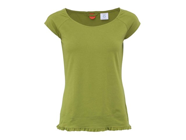 Zelené tričko s volánky Skunkfunk Batiste