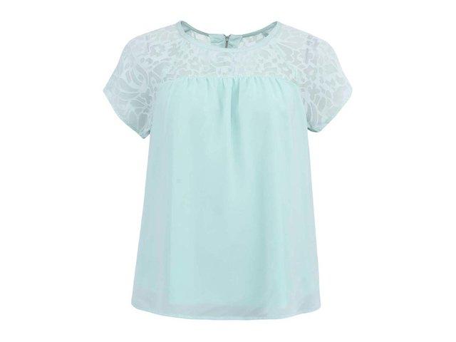 Světle zelené dámské triko s krátkými rukávy Vero Moda Lacer