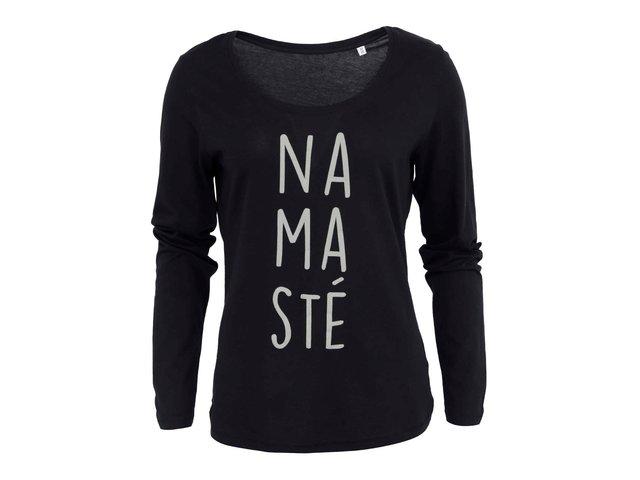 Černé dámské tričko s dlouhým rukávem ZOOT Originál Namaste