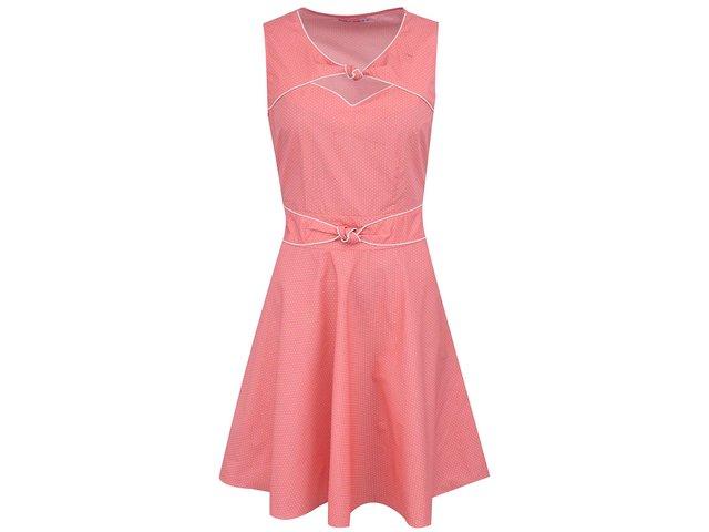 Růžové šaty s žlutými puntíky Trollied Dolly Twist ´N´ Shout