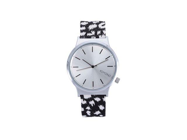 Bílo-černé unisex hodinky Komono Wizard Nightflakes