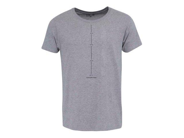Šedé pánské triko ZOOT Originál Osobní měřič výkonu