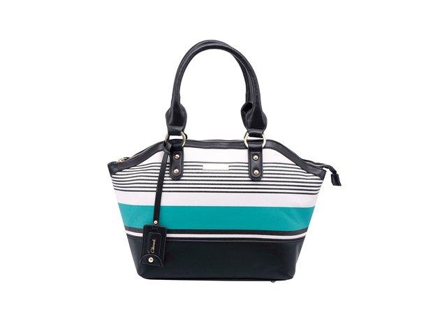 Zeleno-černá pruhovaná kabelka Gionni Estefania