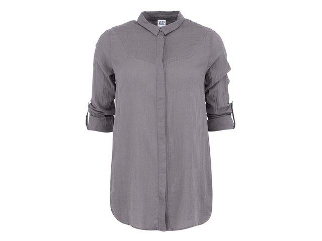 Šedá delší košile s 3/4 rukávy Vero Moda Rinna