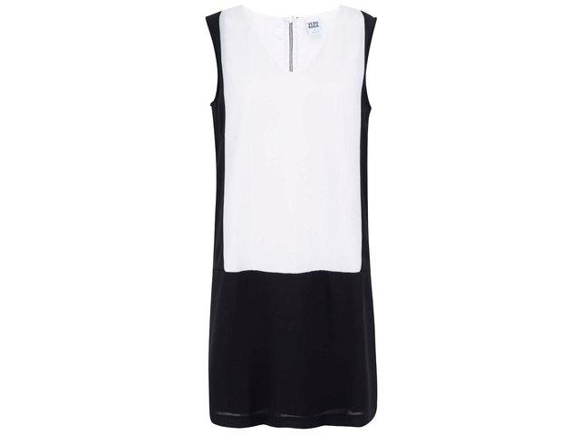 Bílo-černé geometrické šaty Vero Moda Caroline