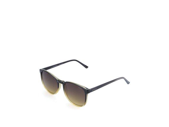Černo-žluté unisex sluneční brýle Komono Urkel