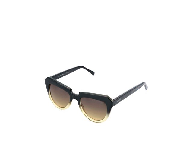 Žluto-černé dámské sluneční brýle Stella