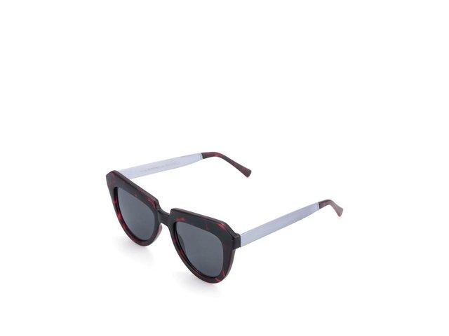 Vínovočerné želvovinové dámské sluneční brýle Komono Stella