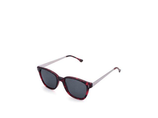 Vínovočerné želvovinové unisex sluneční brýle Komono Renee