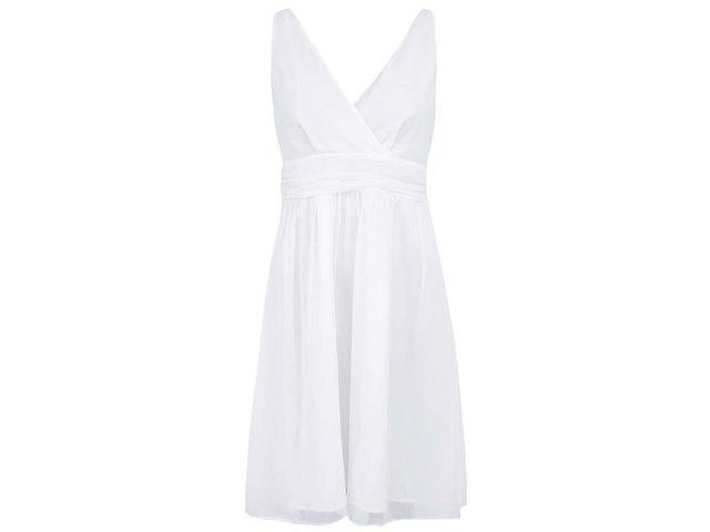 Bílé šaty s véčkovým výstřihem Vero Moda Josephine
