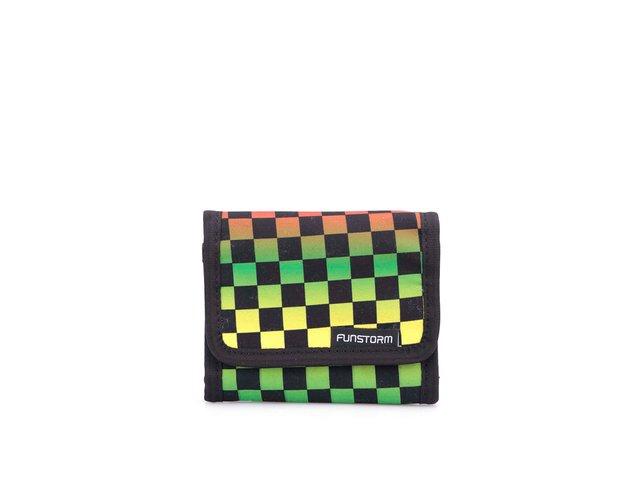 Barevná kostkovaná peněženka Funstorm Tiago