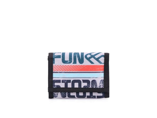 Černo-šedá peněženka s nápisy Funstorm Ram