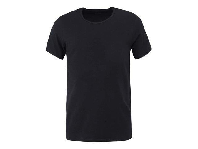 Černé pánské triko s kulatým výstřihem Claudio