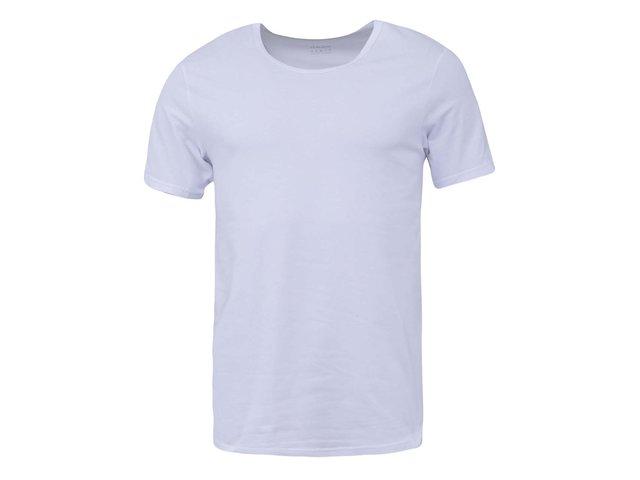 Bílé pánské triko s kulatým výstřihem Claudio
