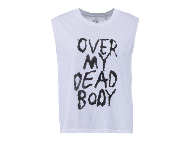 Bílé dámské tričko s nápisem Cheap Monday Morgan