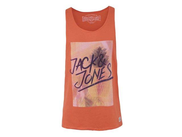Oranžové tílko s potiskem Jack & Jones Sky