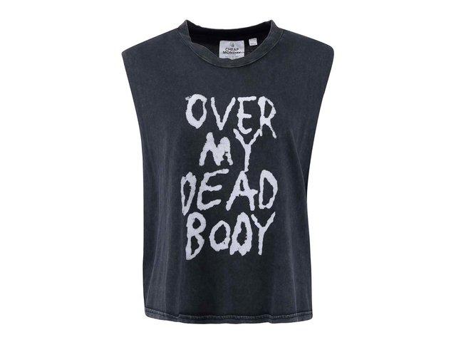 Černé dámské tričko s nápisem Cheap Monday Morgan