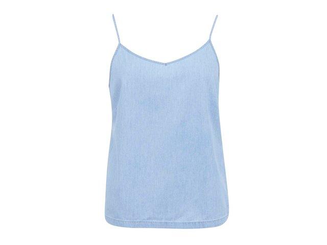 Světle modré denimové tílko Vero Moda Just Easy