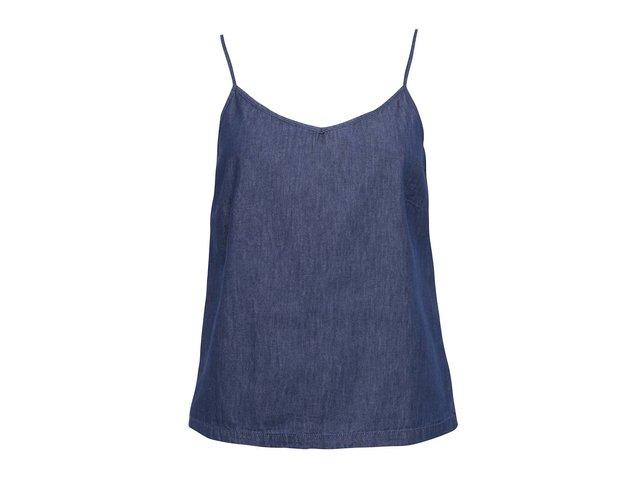 Tmavě modré denimové tílko Vero Moda Just Easy