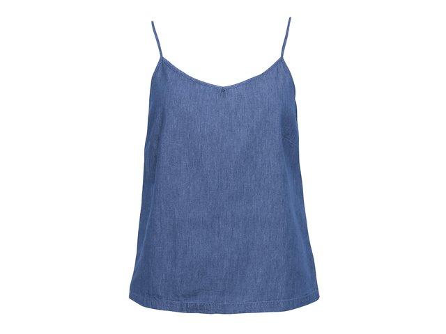 Modré denimové tílko Vero Moda Just Easy