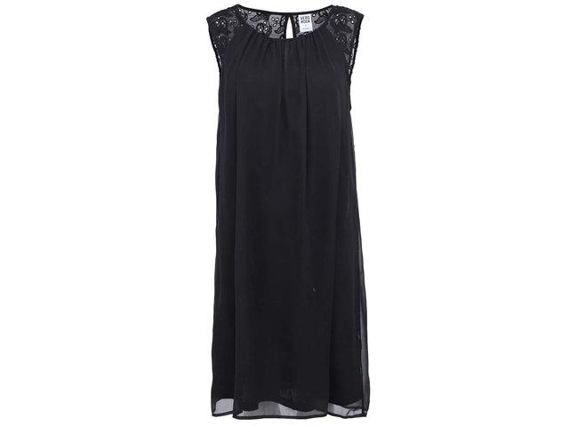 Černé volnější šaty s krajkou Vero Moda Elma