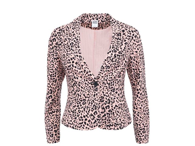 Meruňkové leopardí sako Vero Moda Just Alana
