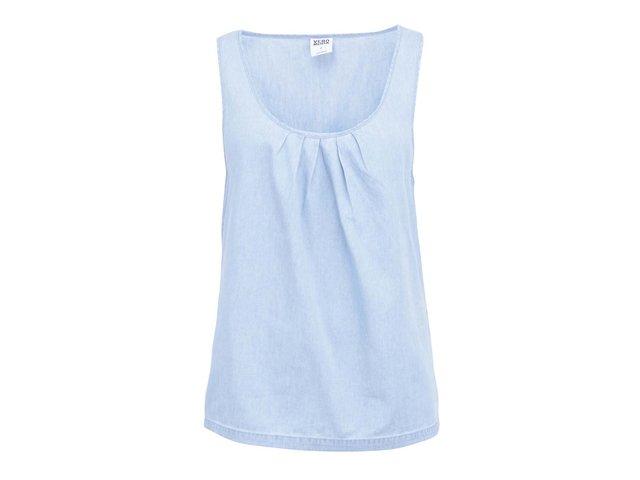 Světle modrý denimový top Vero Moda Just Restra