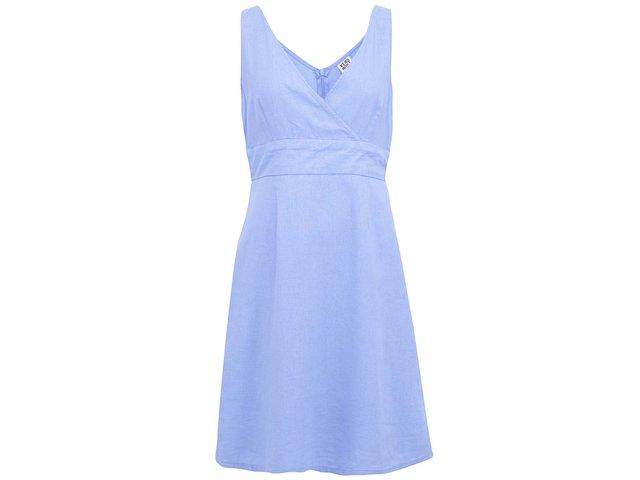 Modré lněné šaty Vero Moda Just Josephine
