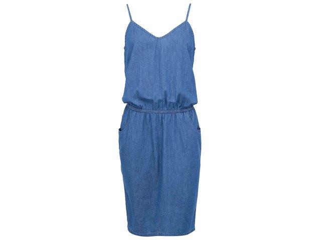 Modré denimové šaty Vero Moda Just Strap