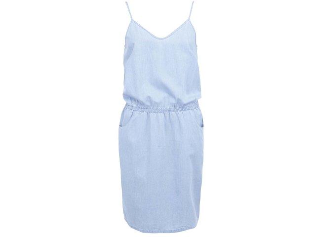 Světle modré denimové šaty Vero Moda Just Strap