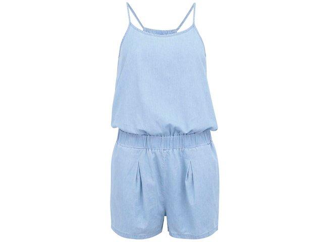 Světle modrý krátký denimový overal Vero Moda Just Easy